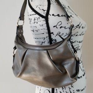 Rosetti gray Metallic Vegan Leather Shoulder bag